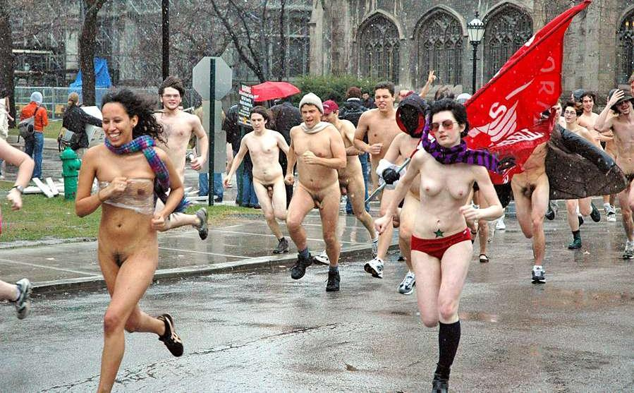 College naked run pictures