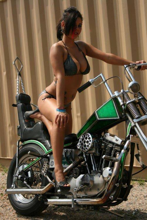 Hot naked women on bikes