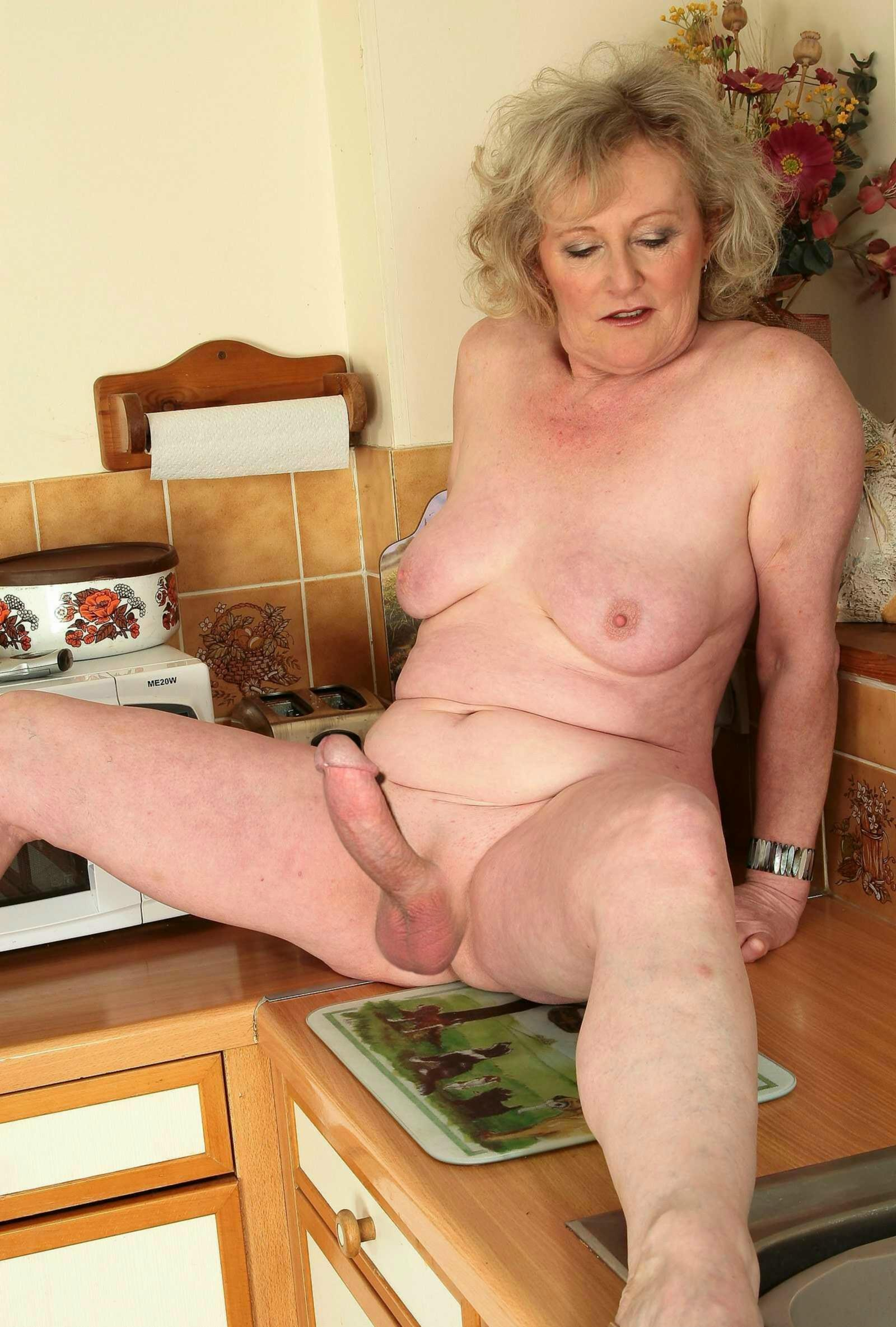 Old women with big cock