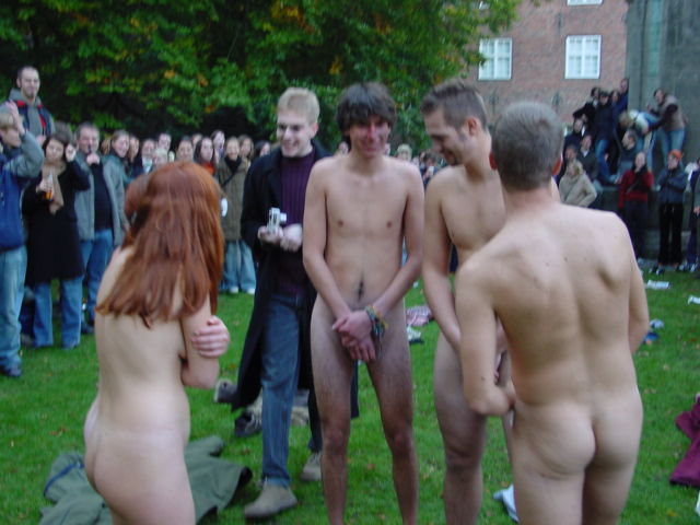Naked college initiations