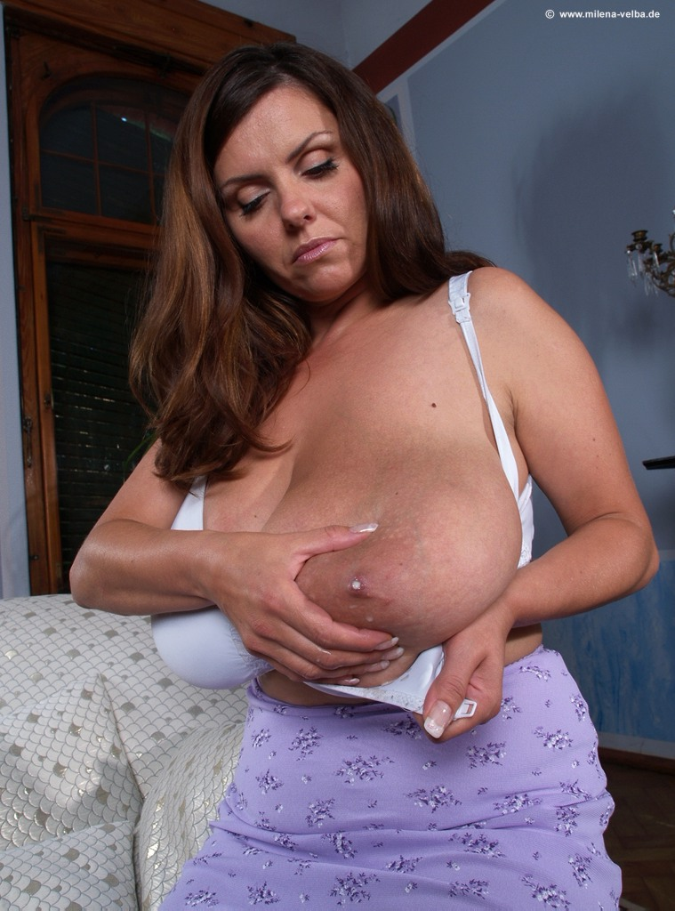 Milena velba almost hits the cameraman with her milk-3734