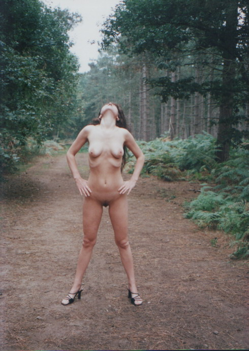 The incorrect wife naked in the woods agree