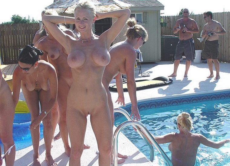 couples naked pool party