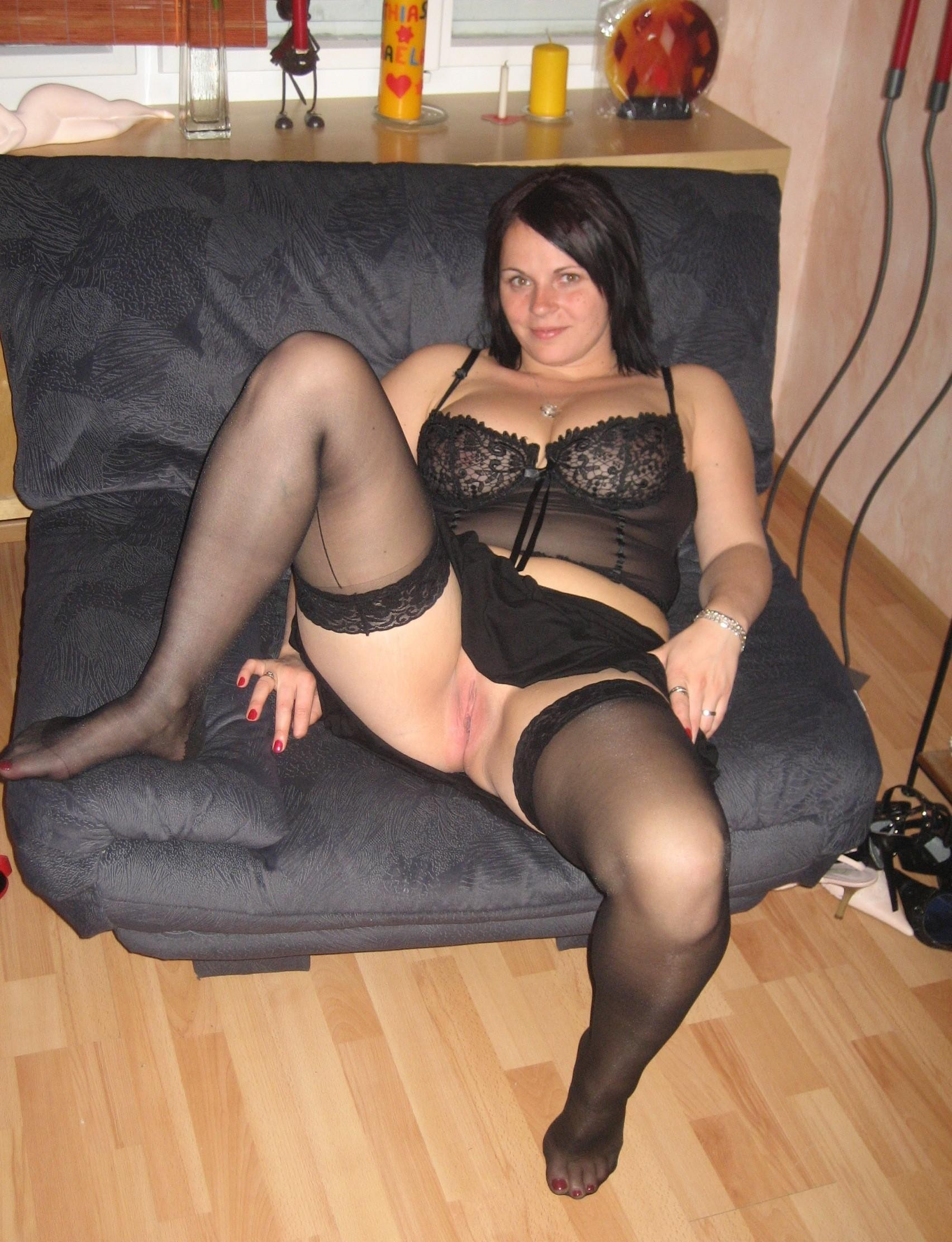 Stockings wife amateur milf