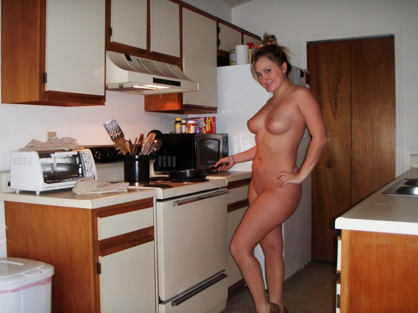 Naked in the Kitchen - Naughty wives teasing and seducing ...