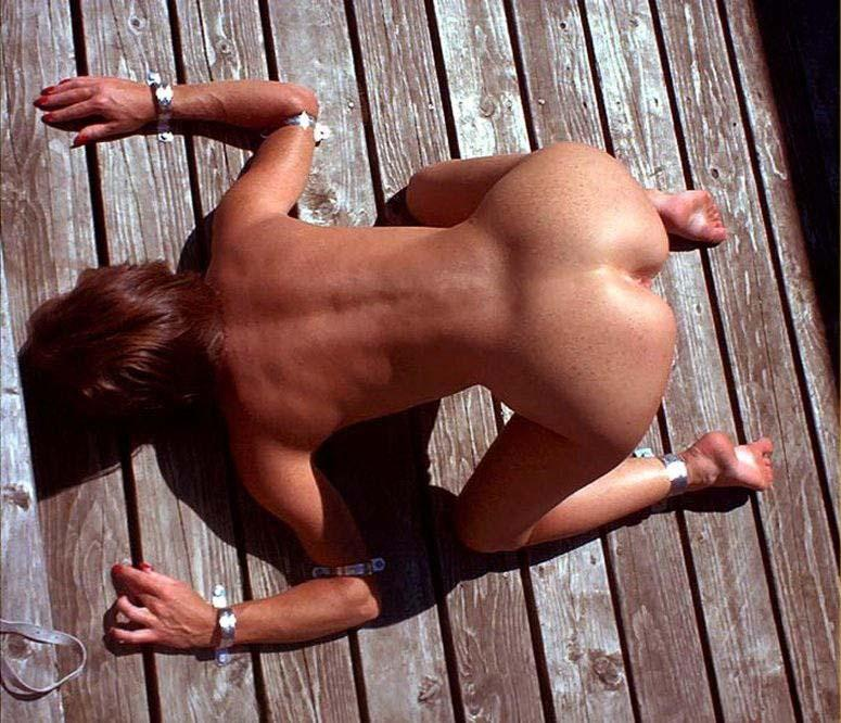 bdsm outdoors amateur wife slave