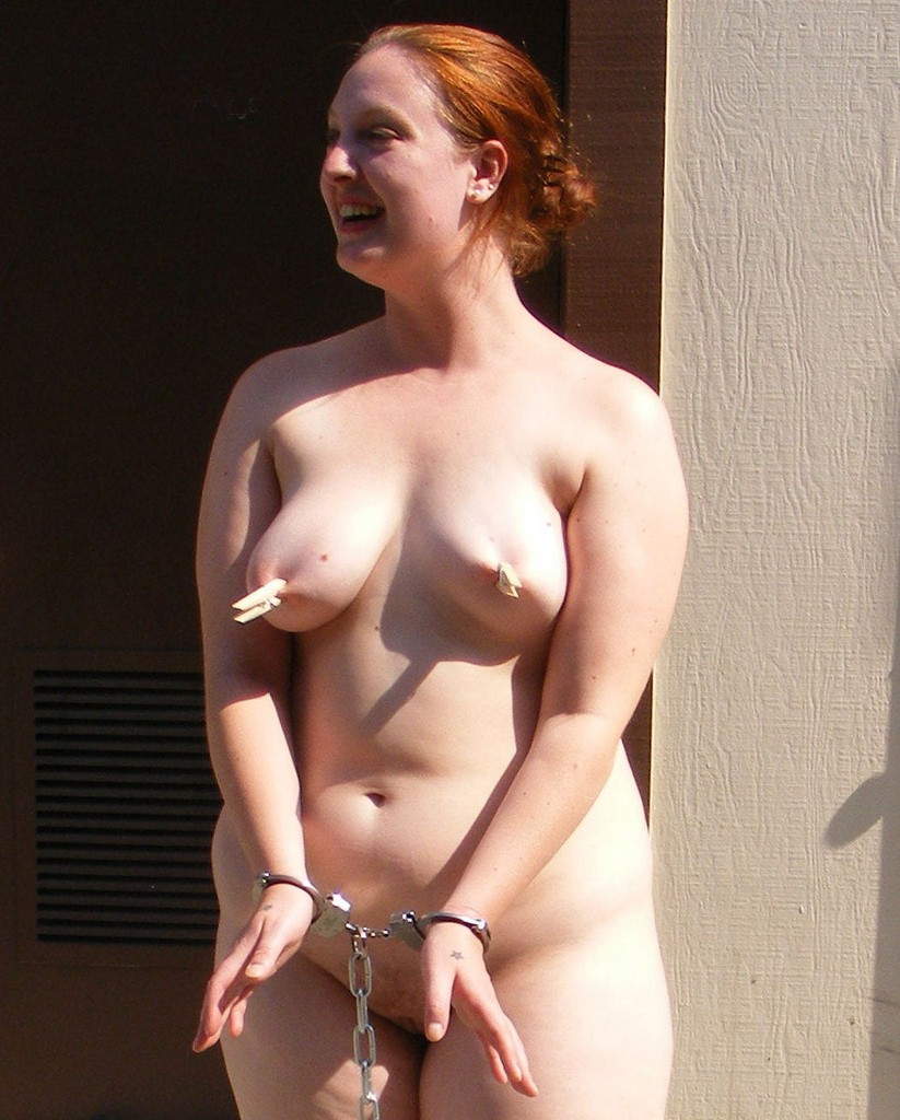 Redhead nude gas station