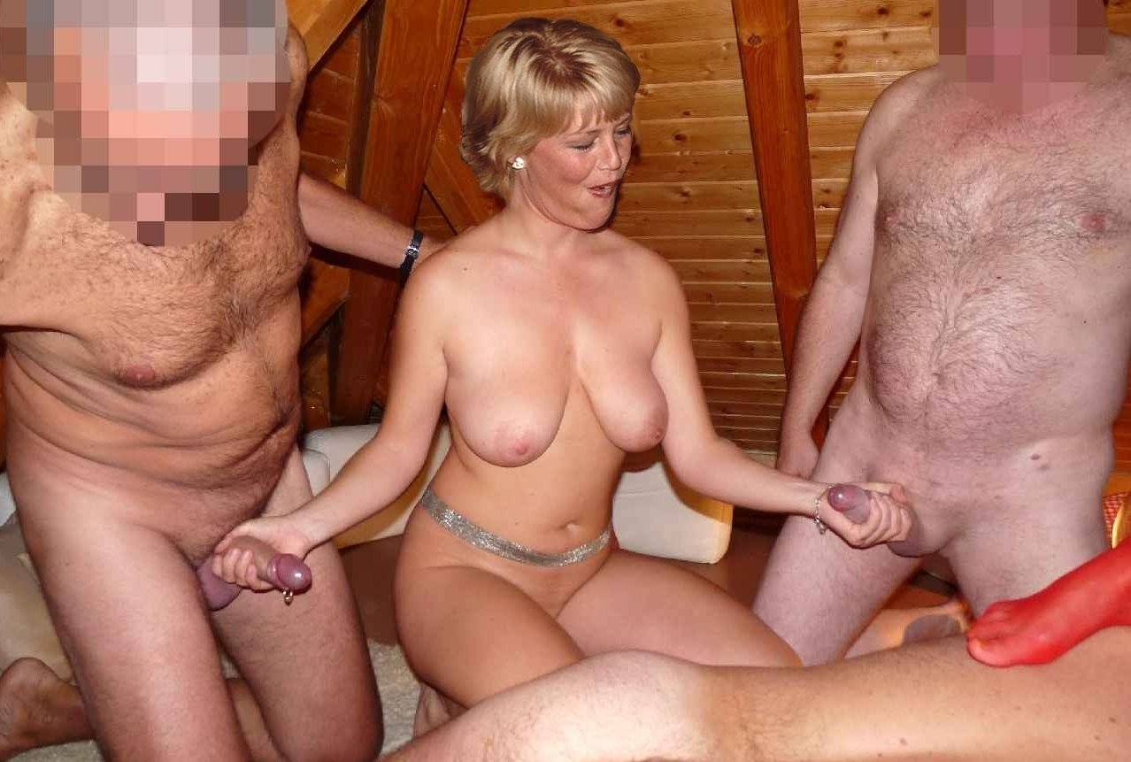 Mature amateur swinger gangbang think