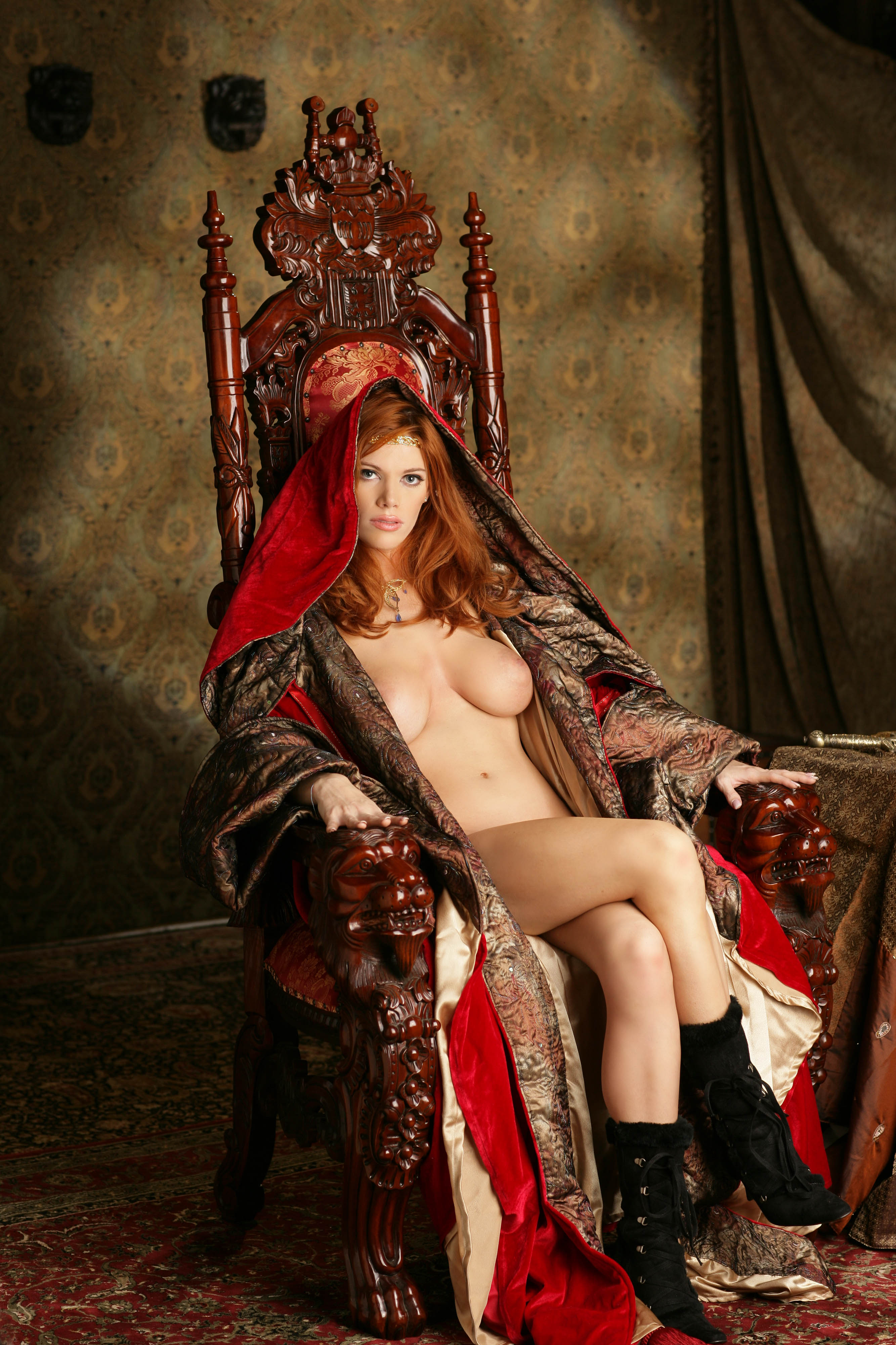 Medieval Village Girls Kari S And Susan Sapphic Strip Naked And Fondle Each Other
