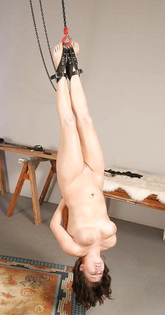 Naked super girl hung upside down 10