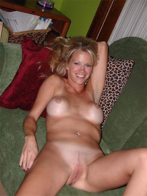 Wife naked in back yard