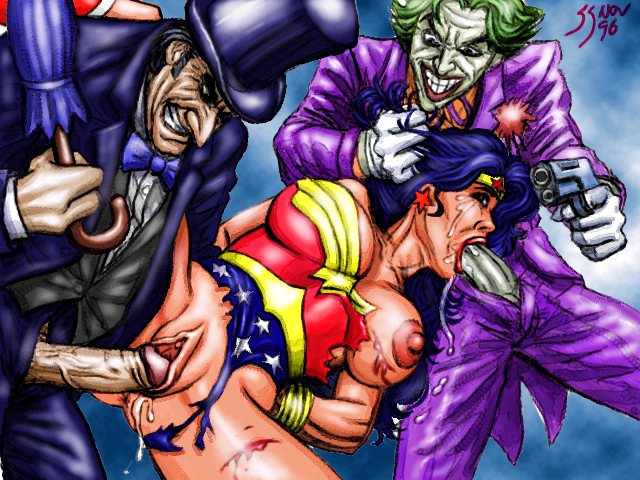 Wonder Woman Raped By Joker And Penguin In Her Pussy And Mouth Dc Comics