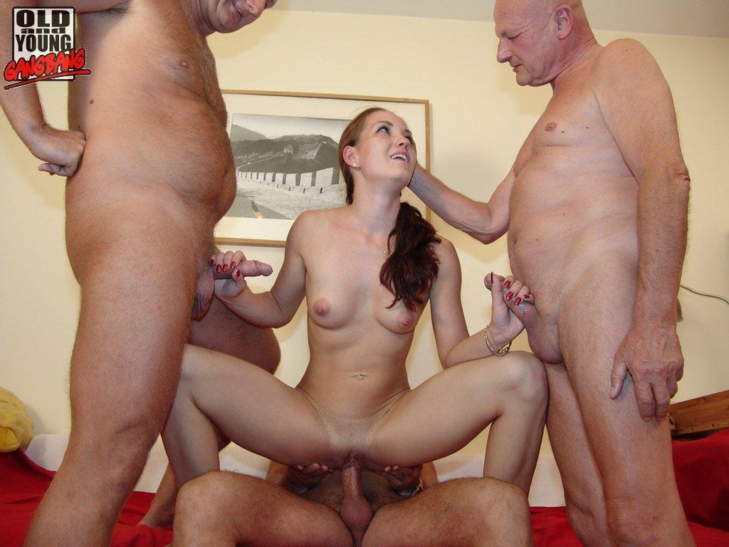Old and young gangbang, xxx lingere sex