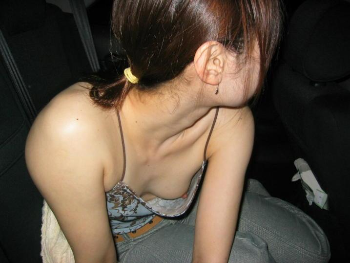 candid Asian downblouse