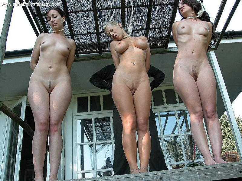 hanged Naked girls
