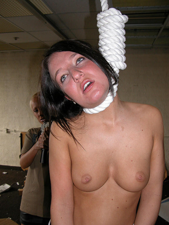 BDSM women hanging by neck question
