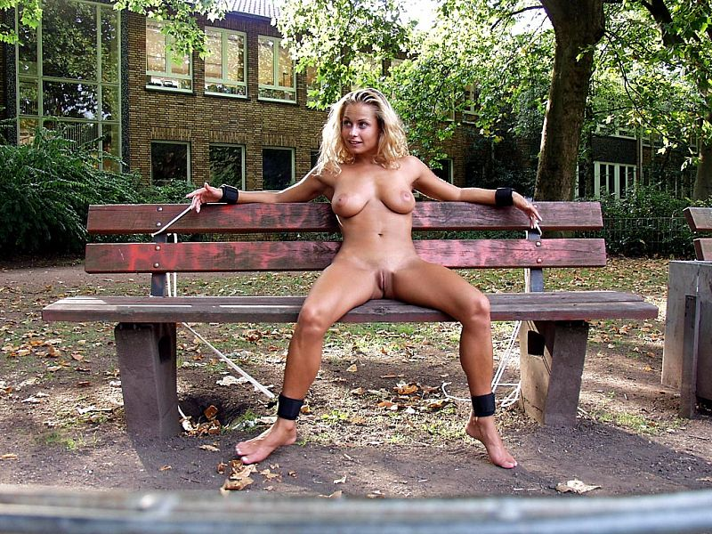 slave, public, dominated, naked, wide open, pussy