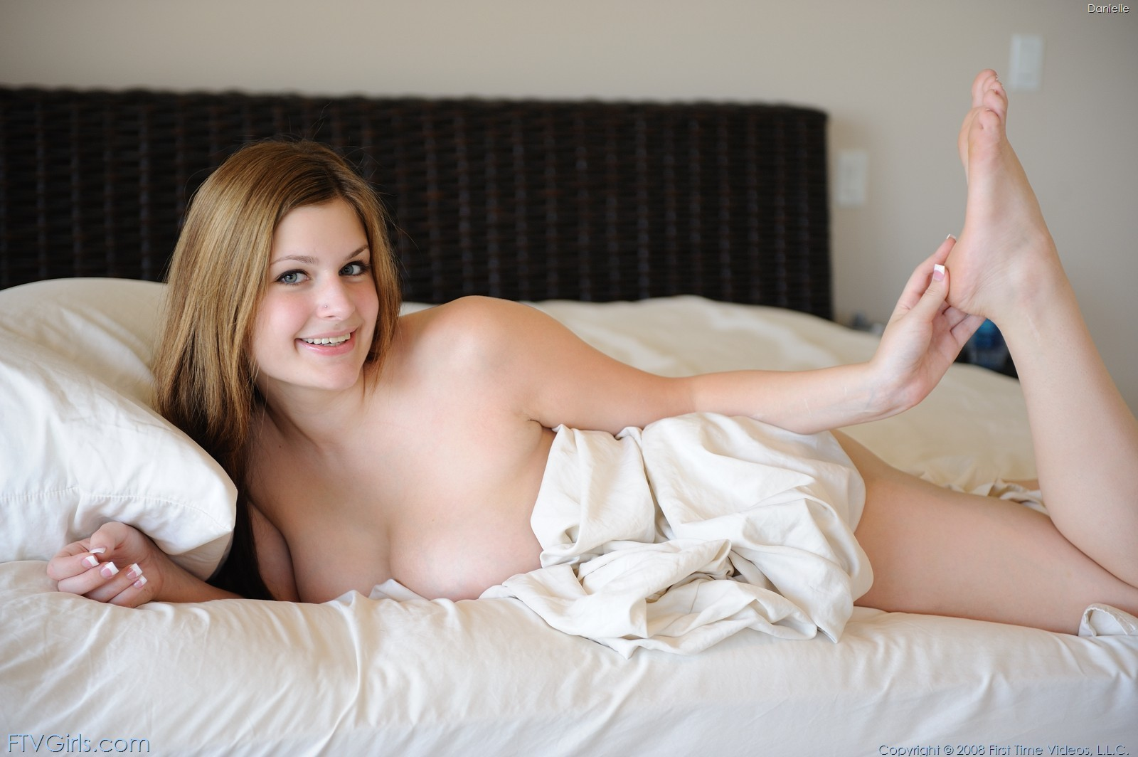 Naked Woman Under Blanket Stock Photos