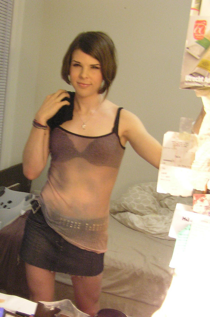 Cute young crossdresser