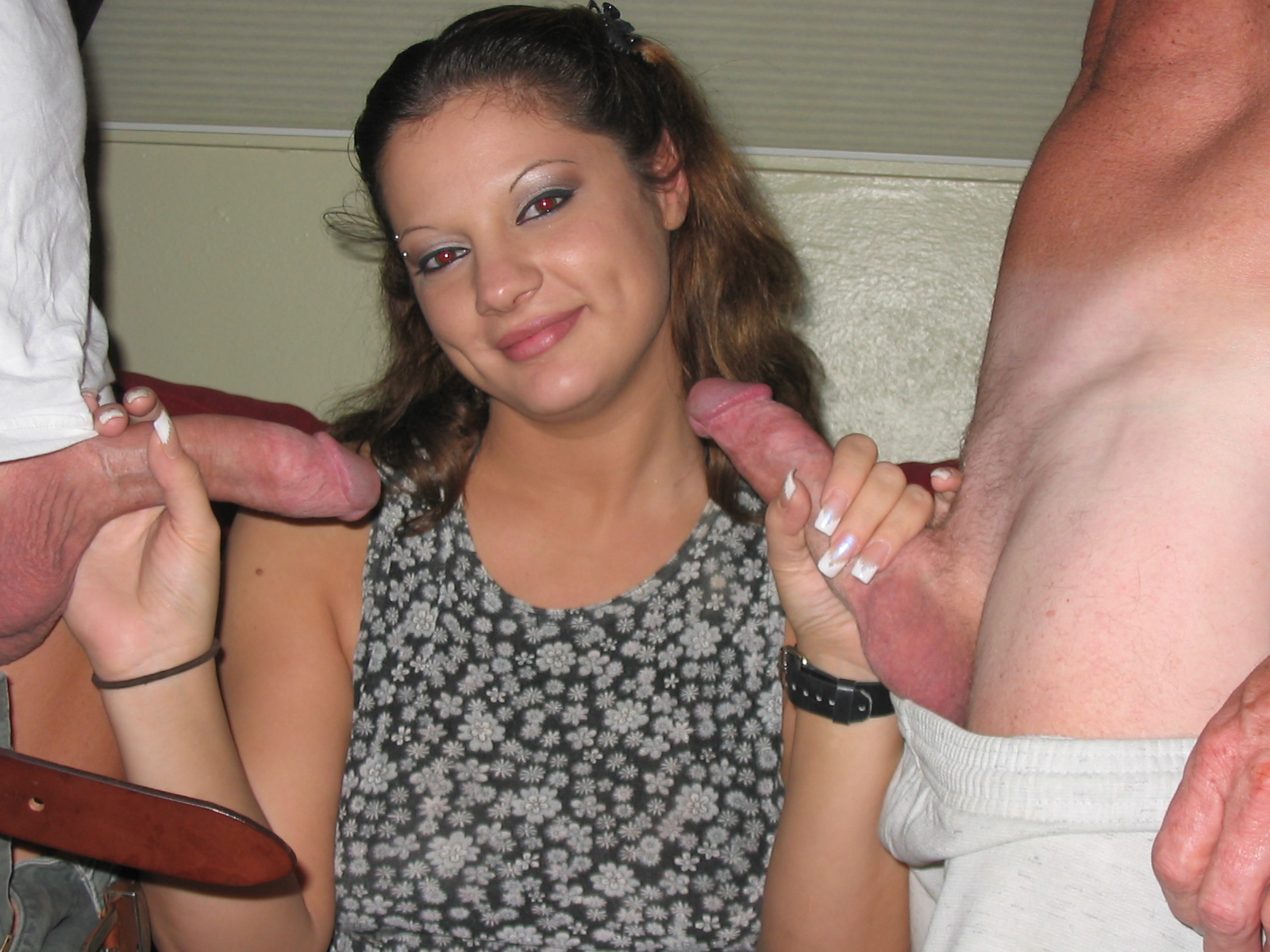 Woman amateur stripping