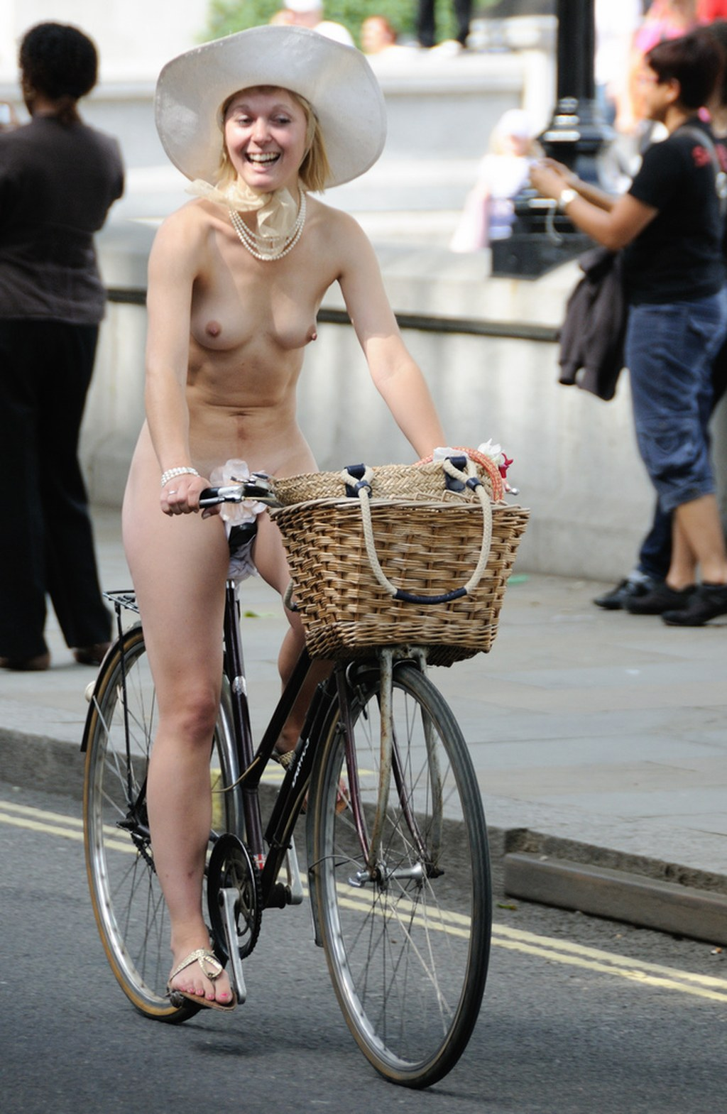 Bike unashamedly naked cfnm these ride