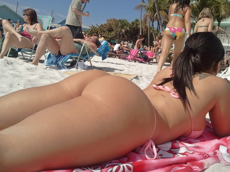 Ass Beach Bikini Breasts Female Pornsos 1