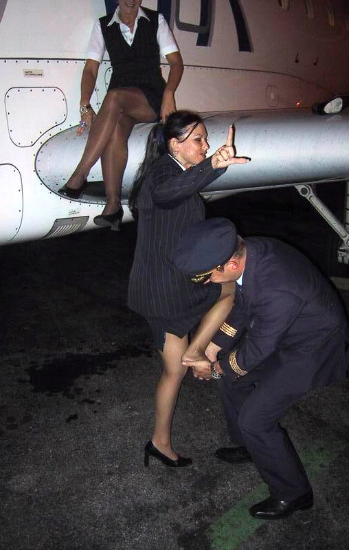 pantyhose Flight attendants wearing