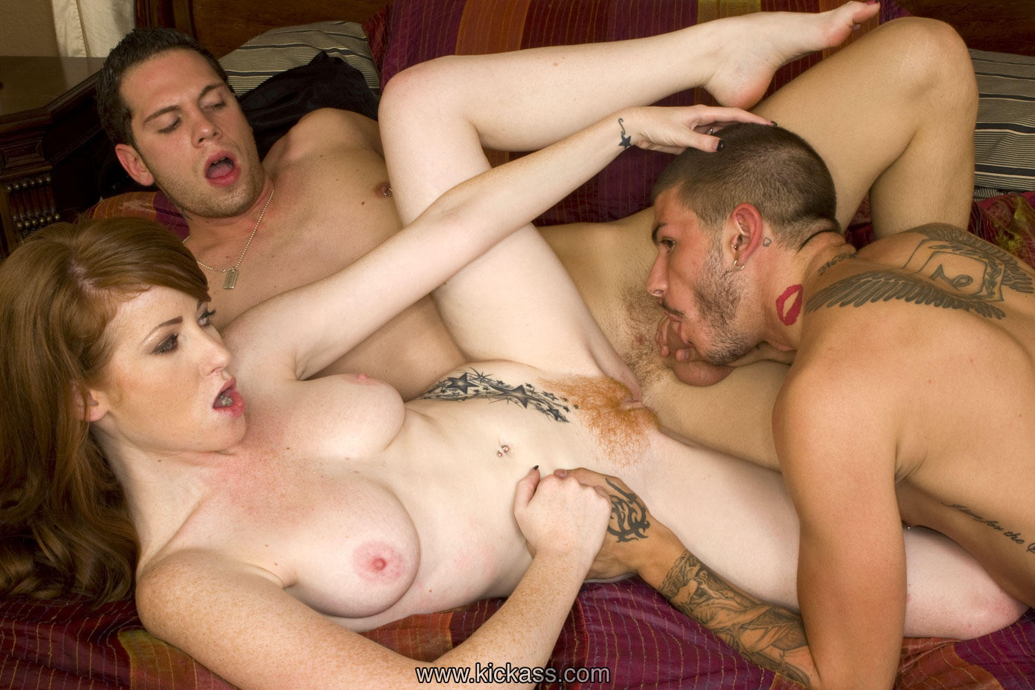 Sexy and nasty ffm threesome
