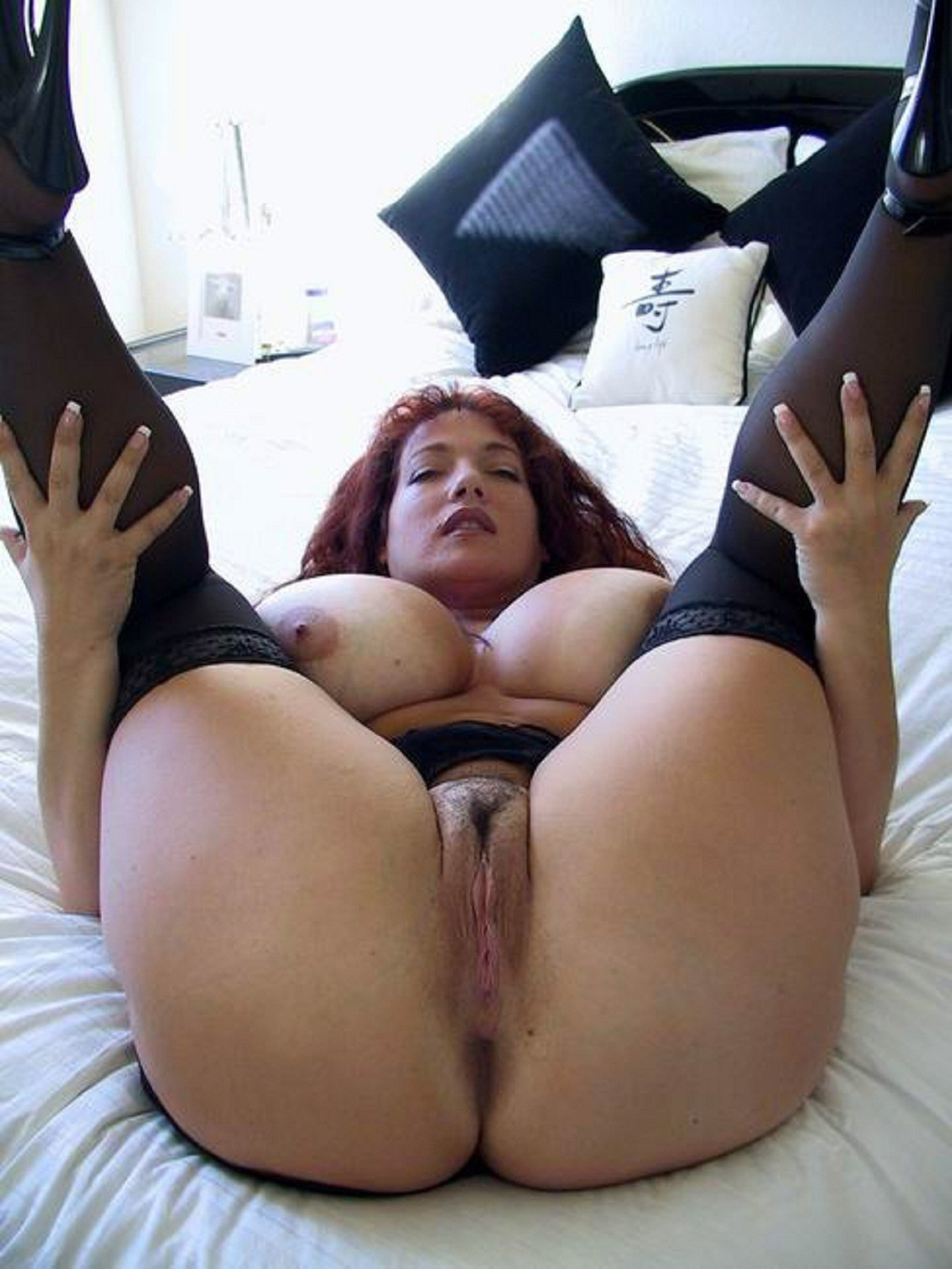 Rather valuable Legs spread wide open for black cock something