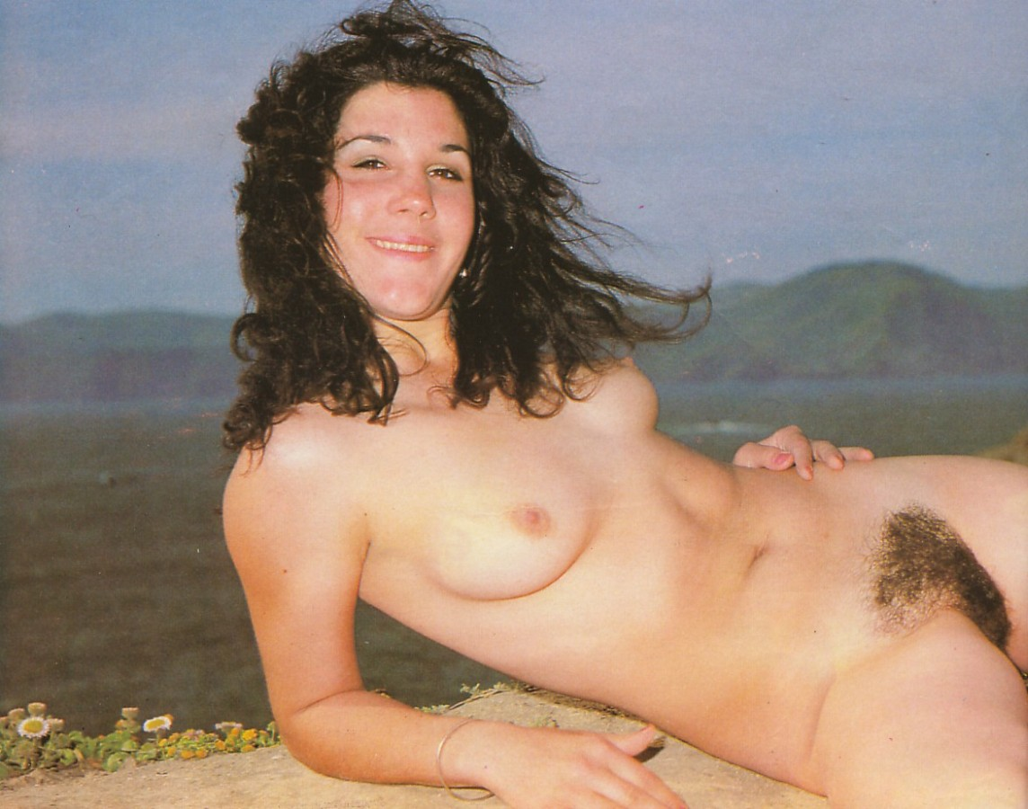 Young hairy nudist bush