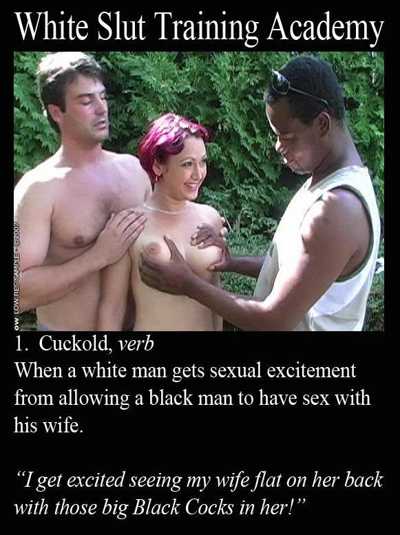 Cheating white wives with niggers