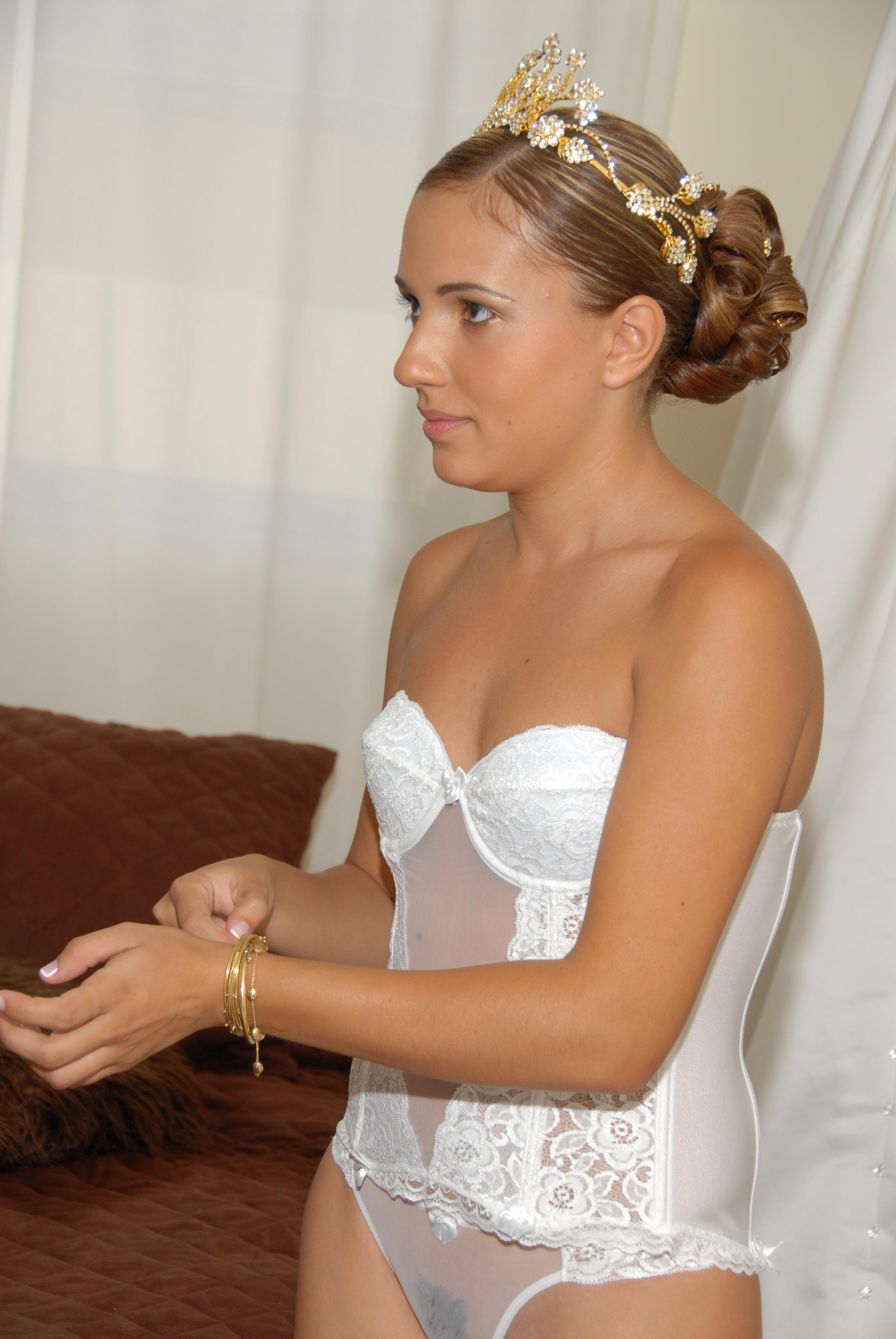 Lingerie basque bodice and one piece