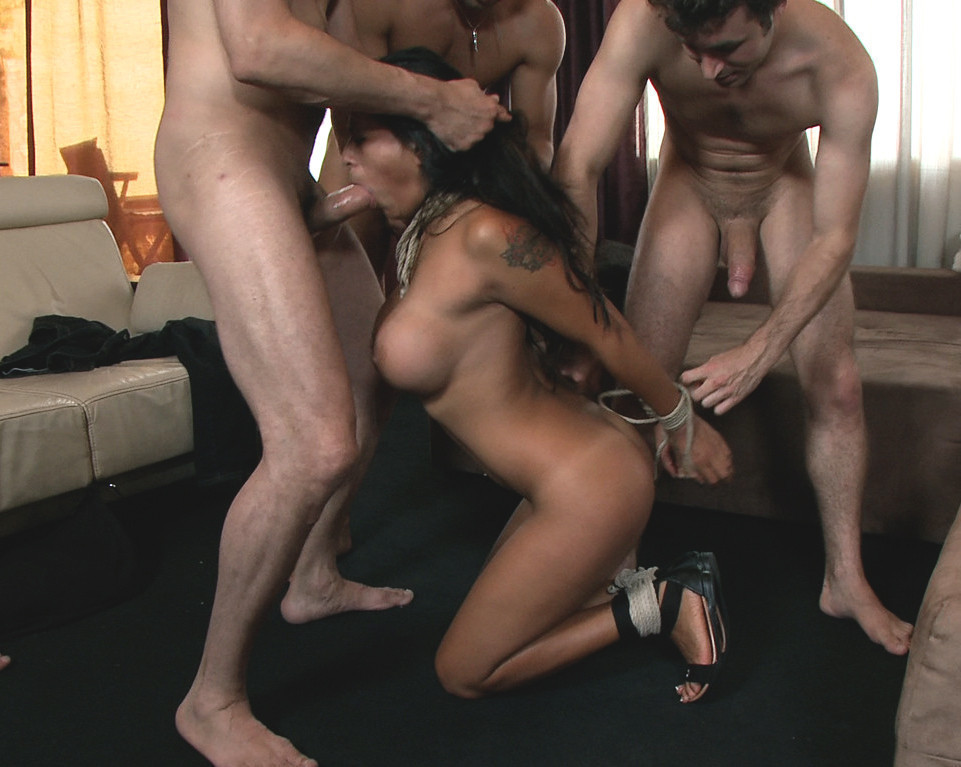Asian military gangbang with a hot sex slave on gotporn