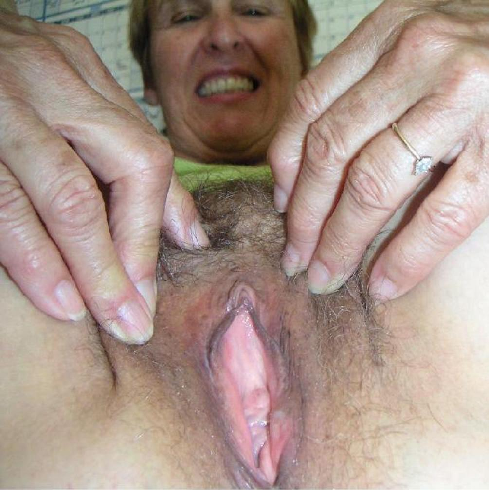 Hairy spreads pussy granny mature amateur
