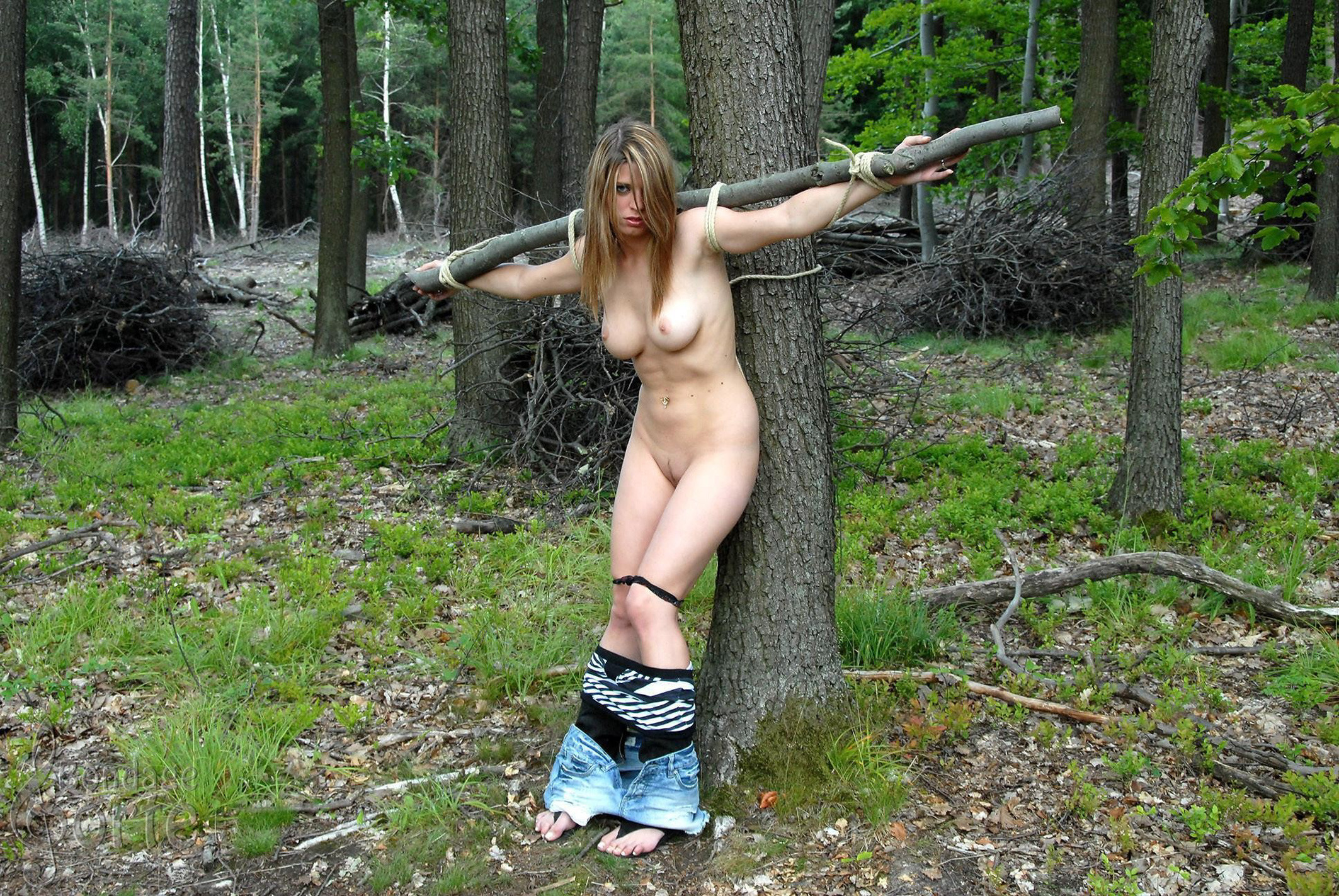 Bondage amateur outdoors wife