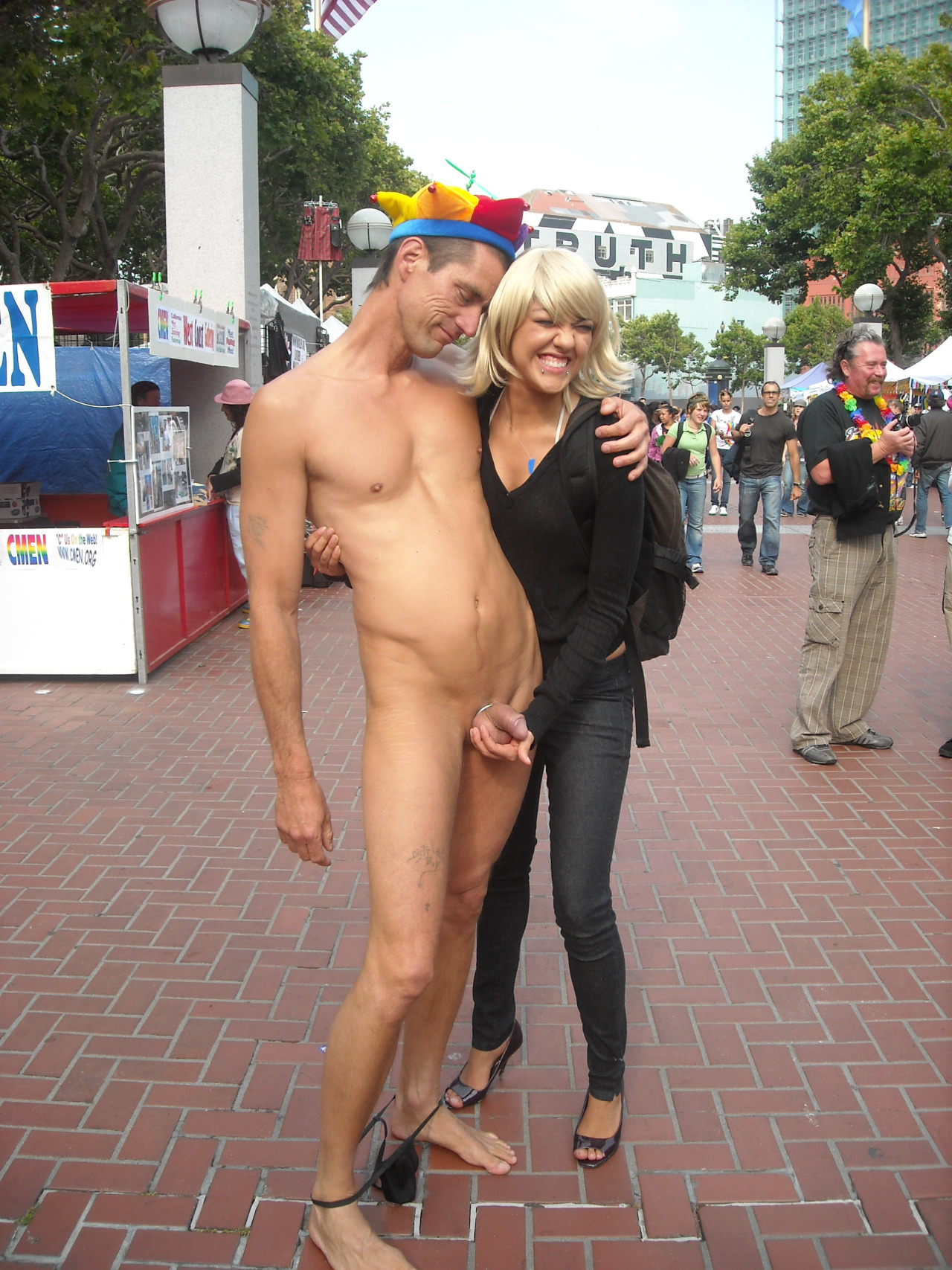 Naked chicks in public Walking Naked At Street Cfnm Other Hot Photos
