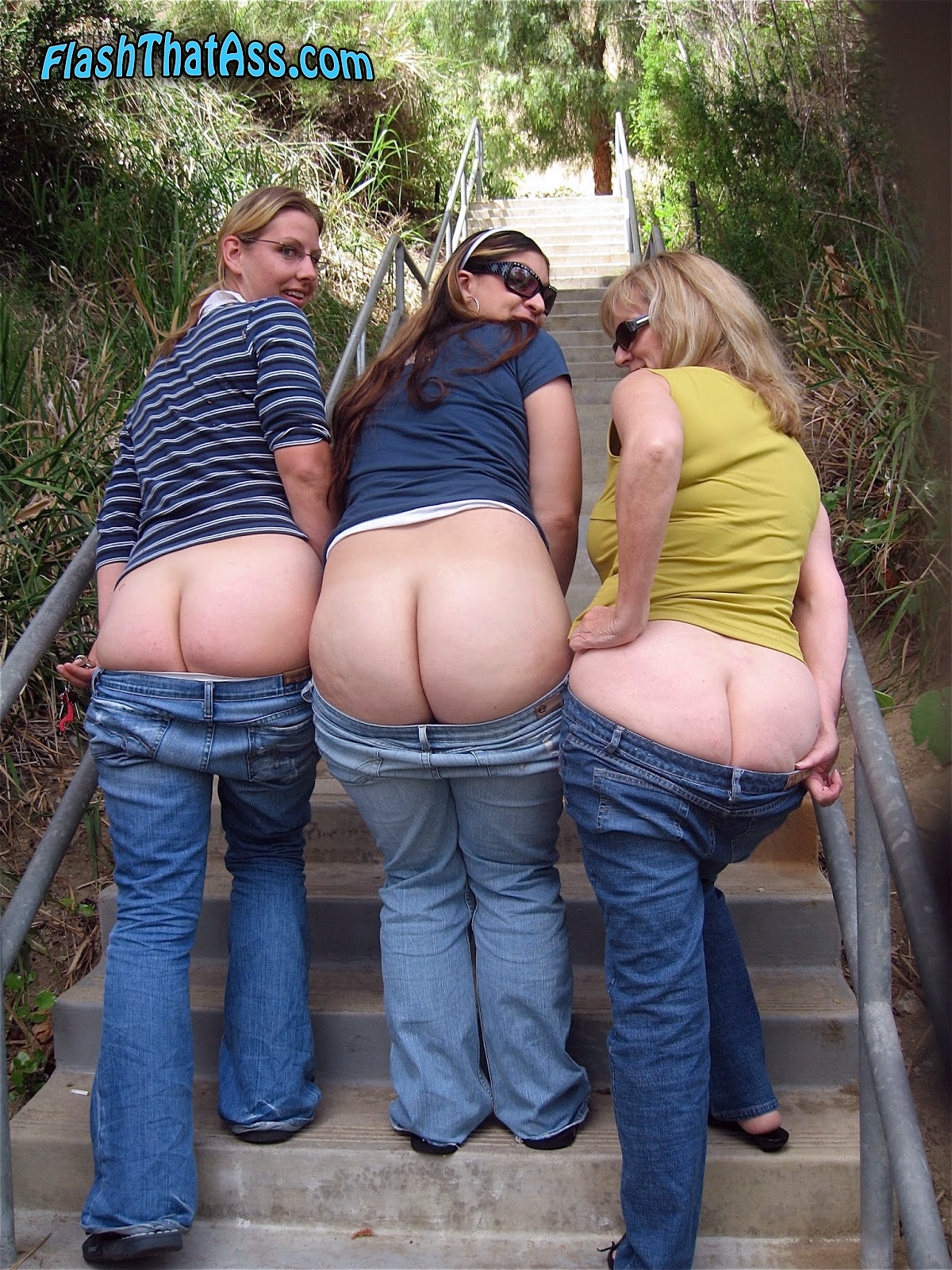 Sluts ass nude group