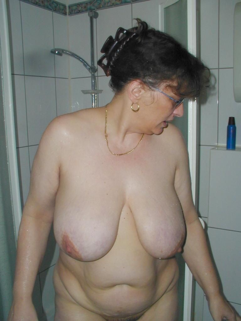 About one Udders mature big nipples
