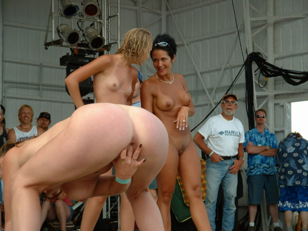 Strange Really voyeur amateurs public nudity party contest