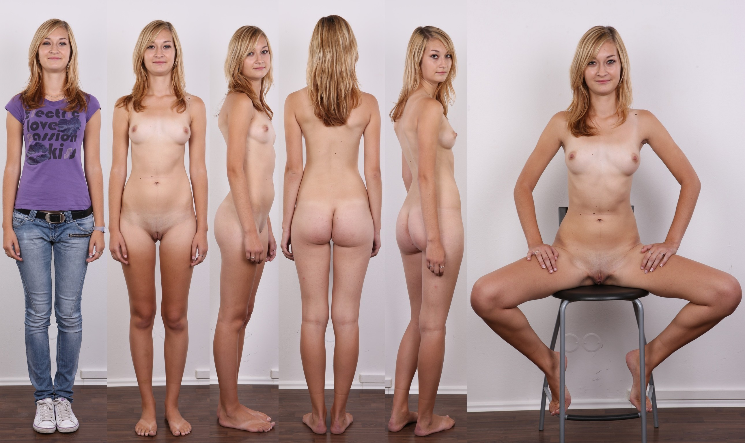 Women dressed undressed group