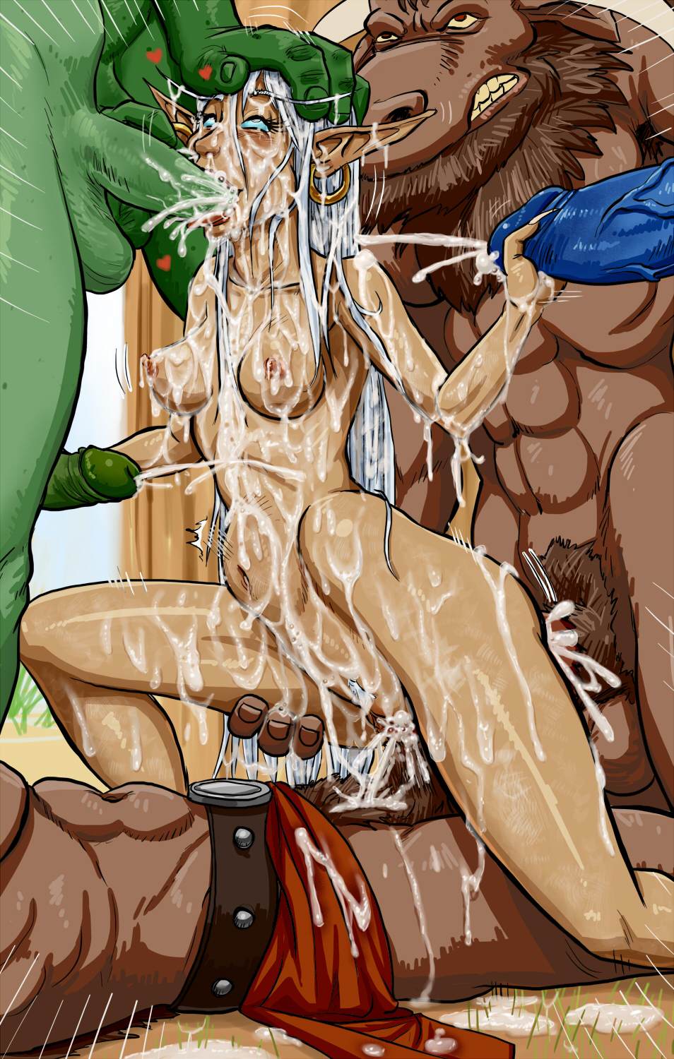 Hentai with troll gangbang adult photo