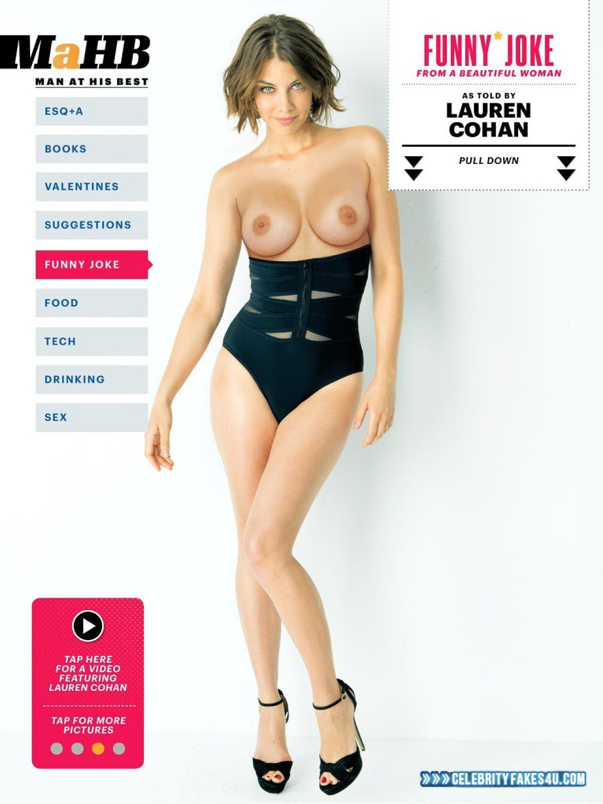 Sexy fake naked lauren cohan