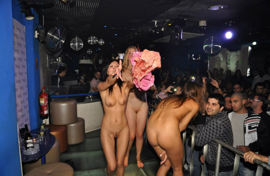 Girl Gets Naked In Club