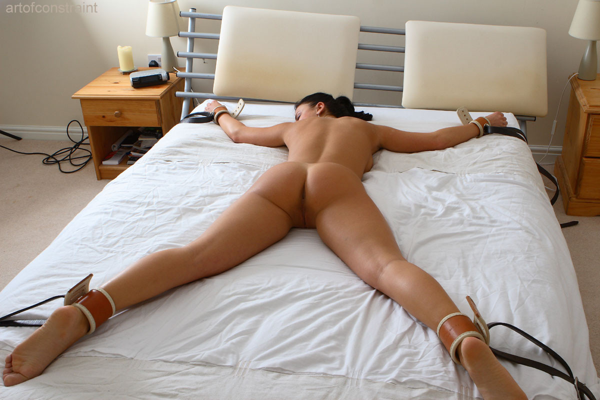 Tied to a bed porn