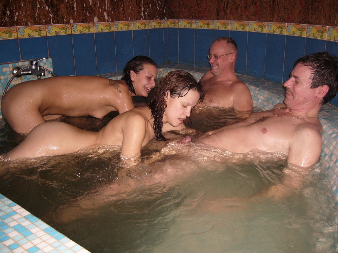 In the hot tub sex