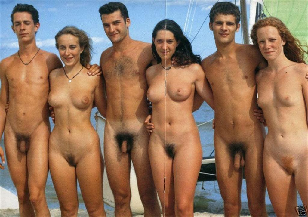 Groups of naked people