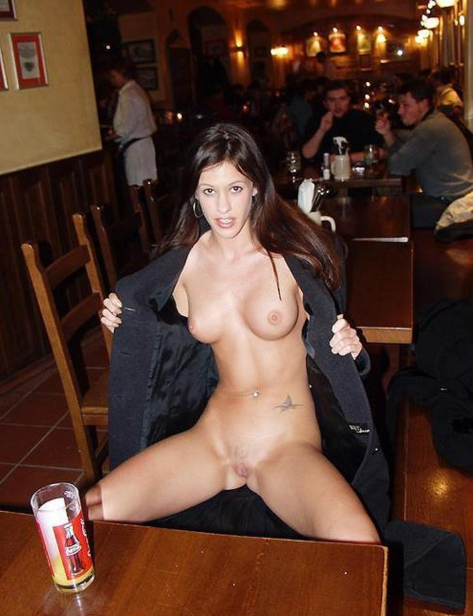 Hot Girl Naked On Terrace - Public Striptease Exhibitionism