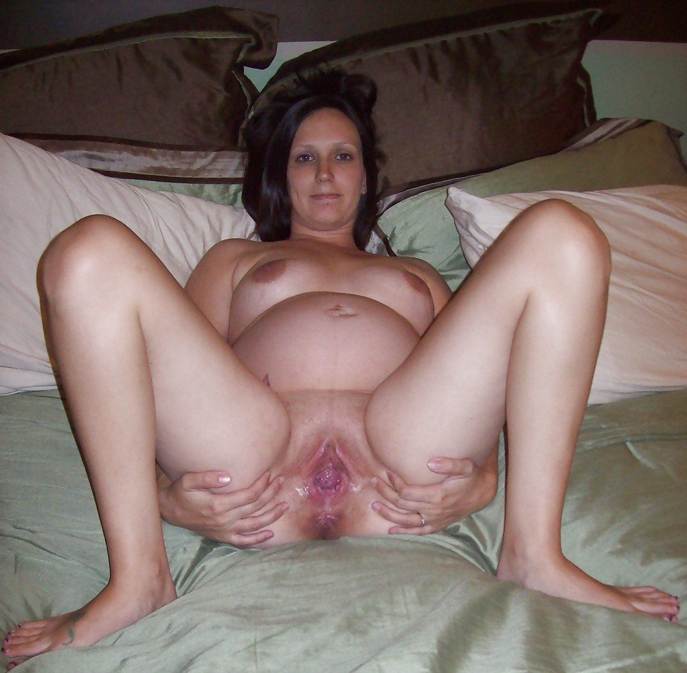 Wife spread amateur wide legs