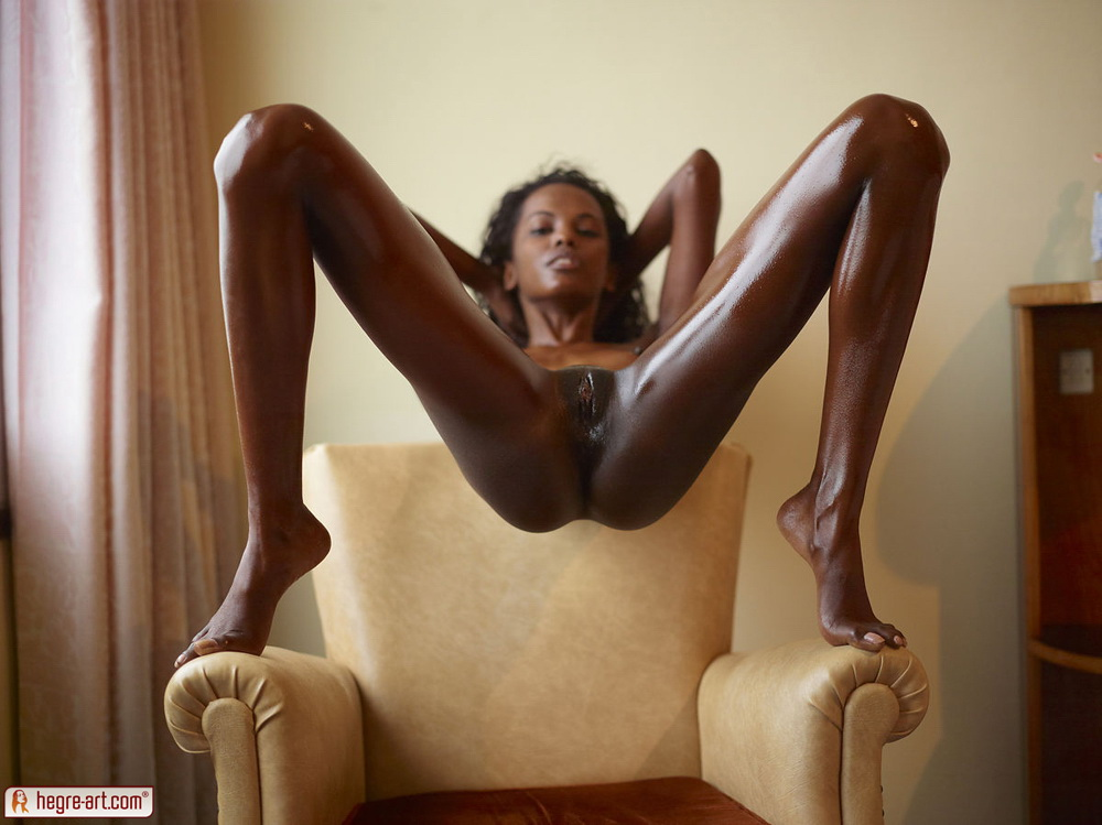 Black model skinny nude girl