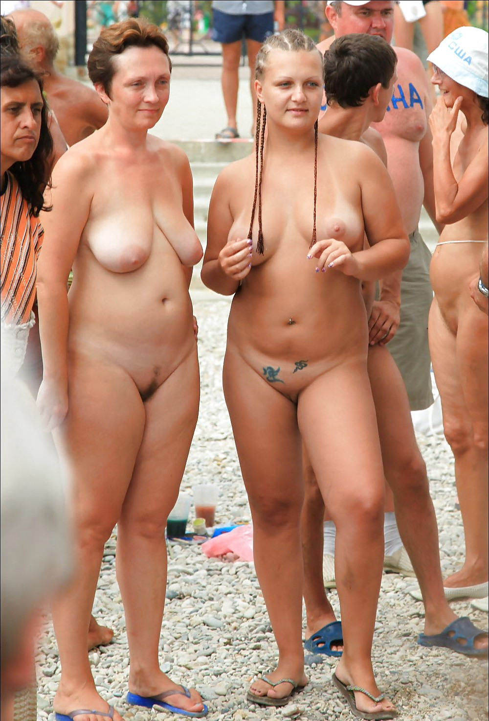 Ebony mom and their little daughters naked quite
